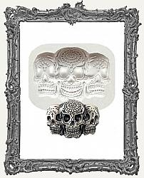 Small Grey Silicone Mold - Sugar Skull Trio