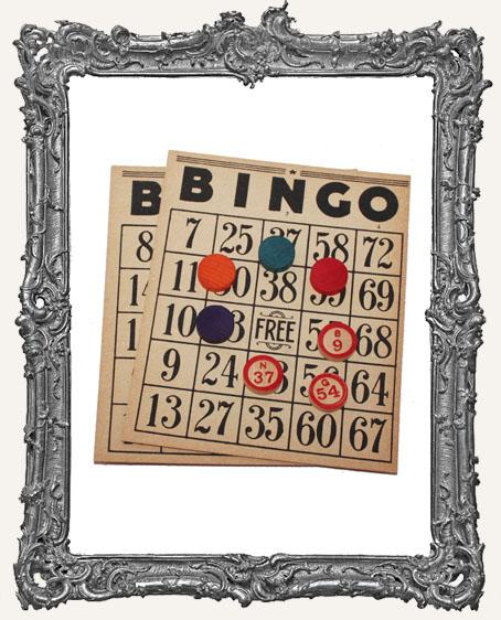 Vintage Bingo Ephemera Set