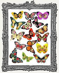 16 Flowerflies Floral Butterfly Paper Cuts
