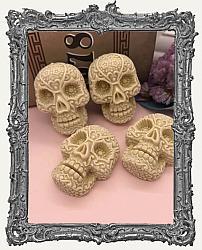 Large Textured Resin Sugar Skull Cabochon