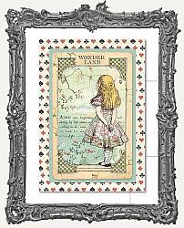 Stamperia 4x6 Postcard - Alice in Wonderland
