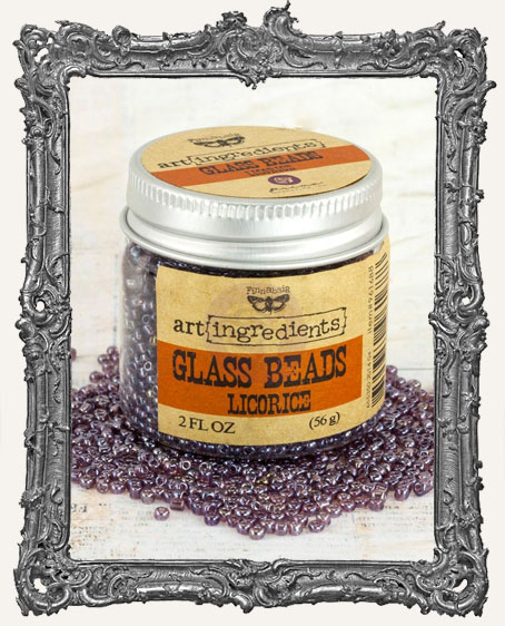 Finnabair - Art Ingredients - Glass Beads - Licorice