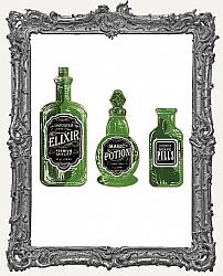 17 Elixir Bottle Paper Cuts