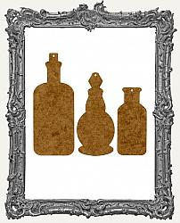 Medium or Large Elixir Bottle Ornaments or Tags - Set of 3