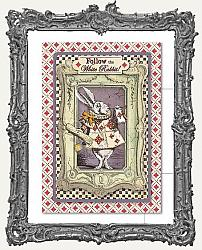 Stamperia 4x6 Postcard - White Rabbit