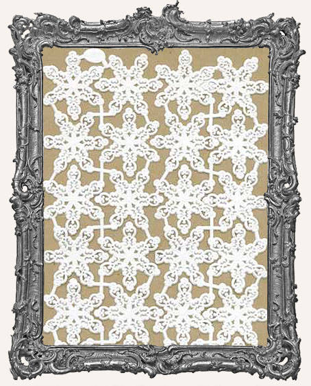 German Dresden WHITE Filigree Snowflakes 14 Pieces