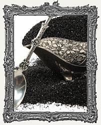 German Glass Glitter 1oz Jar - Black