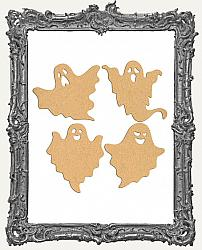 Chipboard Ghost Cut-Outs - 4 Pieces