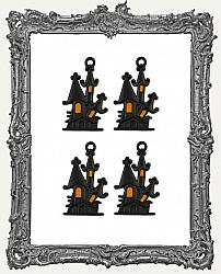 Prima Marketing Vintage Halloween Collection - Thirty-One - Matte Haunted House Metal Charms