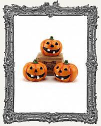 Mini Hand Painted 1 Inch Halloween Jack O Lantern Pumpkin - 1 Piece