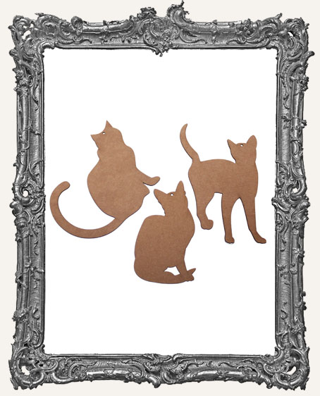 Chipboard Cat Tags - Set of 3