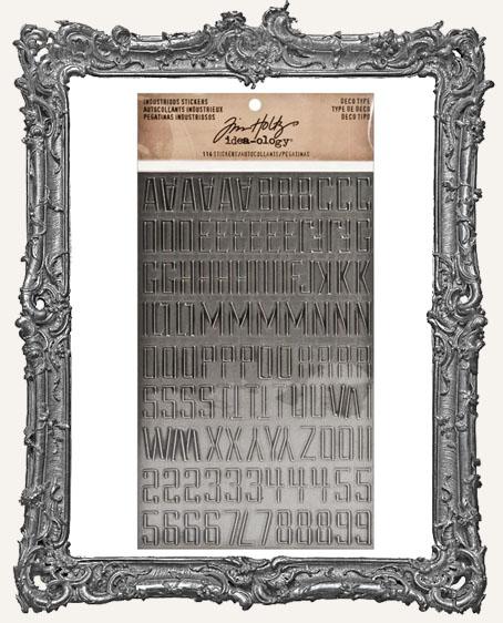 Tim Holtz Industrious Stickers - Deco Type