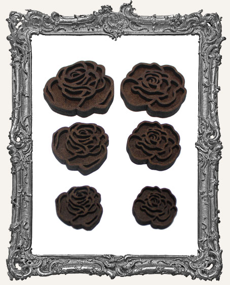 Layered Rose Cut-Outs - 12 Pieces