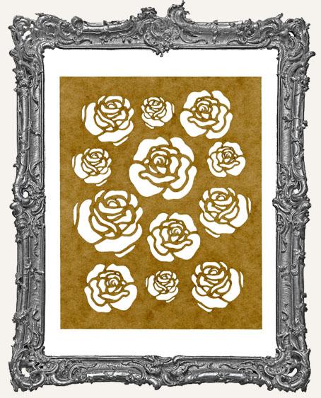SMALL Rose Stencil