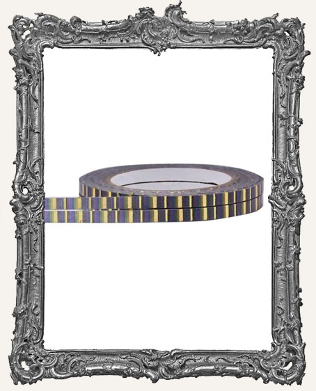 Little B Decorative Foil Tape Halloween Stripe Gold