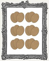 30x40mm Oval Cameo Blanks - Set of 18