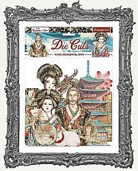 Stamperia Die-Cuts - Sir Vagabond In Japan