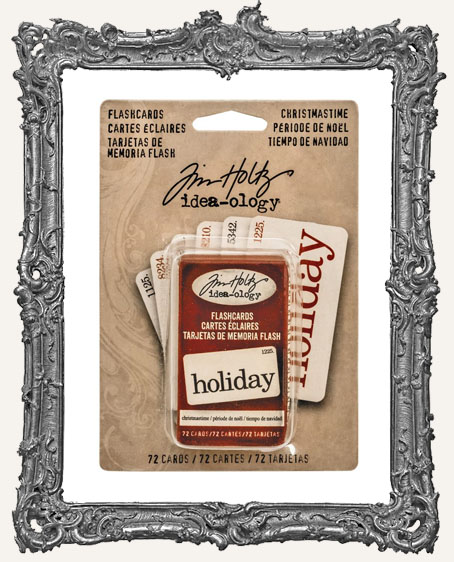 Tim Holtz - Idea-ology - Yuletide Christmastime Boxed Flashcards 72 Per Pkg