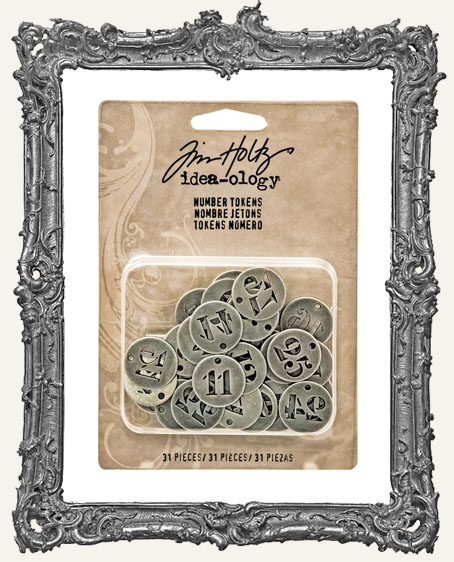 Tim Holtz - Idea-ology - Yuletide Number Tokens
