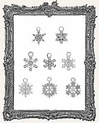 Tim Holtz - Idea-ology - Metal Snowflakes Adornments 8 Per Pkg