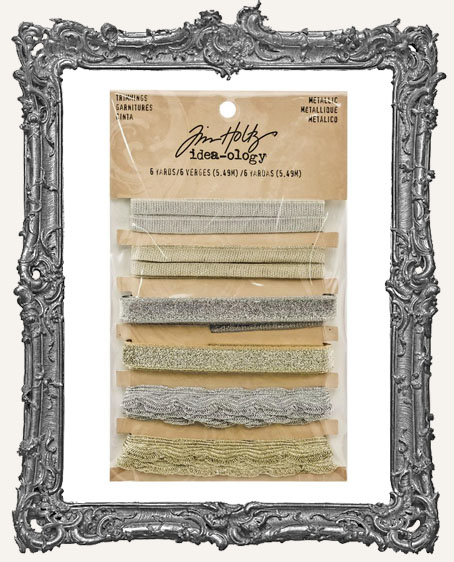 Tim Holtz - Idea-ology - Yuletide Metallic Trimmings 1 Yard Each