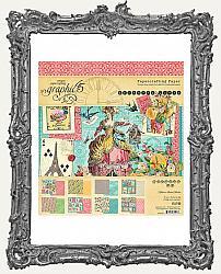 Graphic 45 - Ephemera Queen - Marie Antoinette 8 x 8 Paper Pad