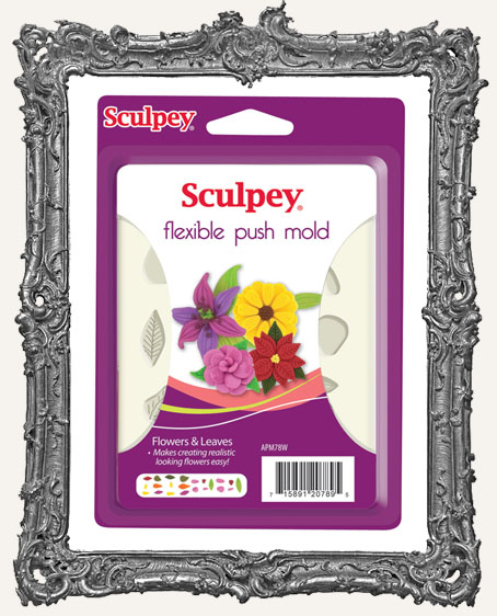 Sculpey Flexible Push Mold - Flowers and Leaves