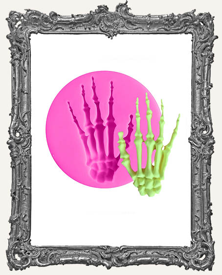 Small Pink Silicone Mold - Skeleton Hand