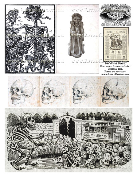 Day of the Dead I Collage Sheet