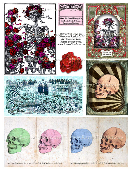 Day of the Dead III Collage Sheet
