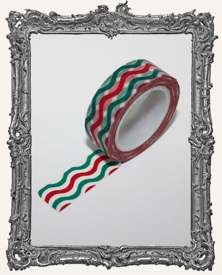 Washi Tape - Wavy Candycane