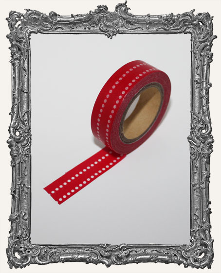 Washi Tape - 2 Line Red Dots