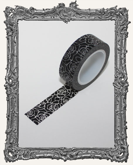 Washi Tape - Black Roses