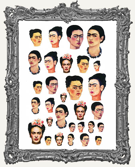 30 Frida Head Paper Cuts