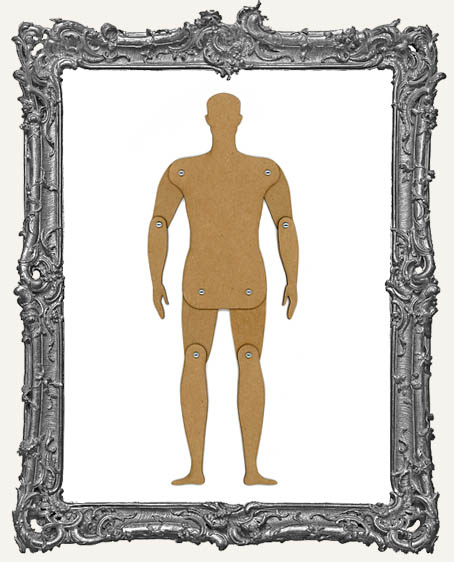 Basic CHIPBOARD Articulated Art Doll Kit MALE - 4 Sizes