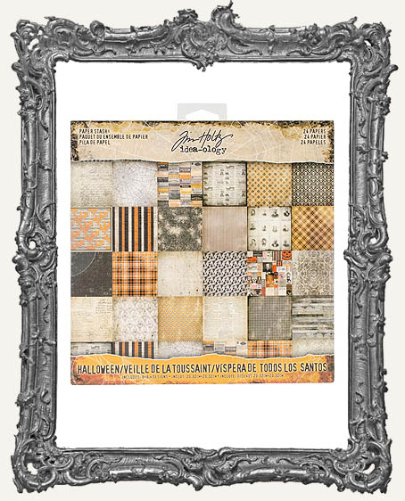 Tim Holtz - Idea-ology - 2017 Halloween Paper Stash 8x8 Double-Sided Paper Pad