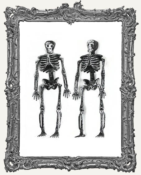 Plastic Graveyard Skeleton - Distressed Black