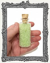 Glow In The Dark Chunky Glass Glitter - Medium Corked Bottle