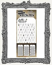 Tim Holtz Layering Stencils - Shifter Harlequin Set of 3