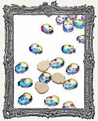 Tiny AB Flat Back Crystal Skull Rhinestones - Set of 4