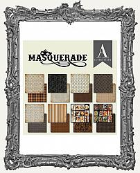 6X6 Authentique Halloween Double-Sided Cardstock Pad - Masquerade