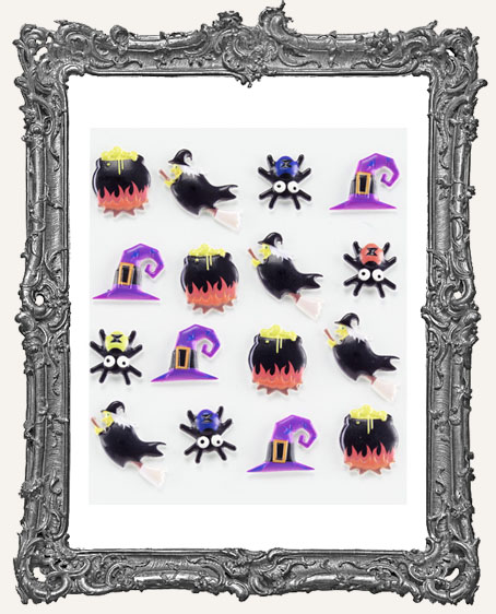 Witches Dimensional Embellishments - 16 Pieces