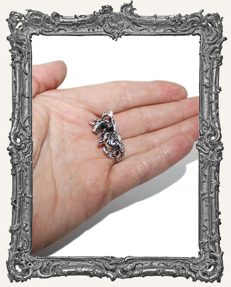 Antique Silver Anatomy Charm - Heart