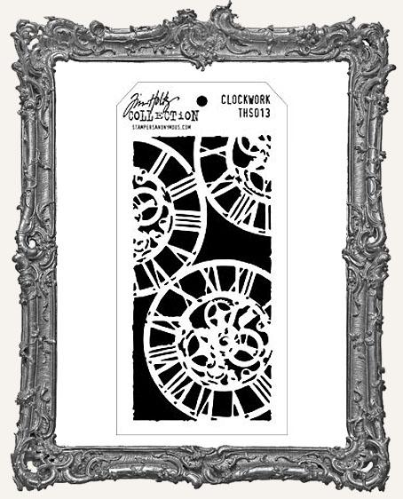 Tim Holtz Layering Stencils - CLOCKWORK