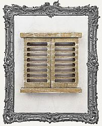 Prima Memory Hardware Distressed Venetian Wood Shutters