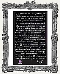 Prima Finnabair Stencil - Manuscript