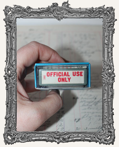 Vintage Official Use Only Stamp