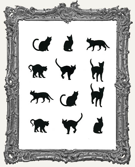 Mini Cat Cut-Outs - 12 Pieces