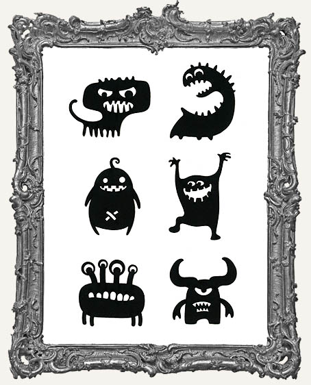 Misfit Monster Cut-Outs - 6 Pieces
