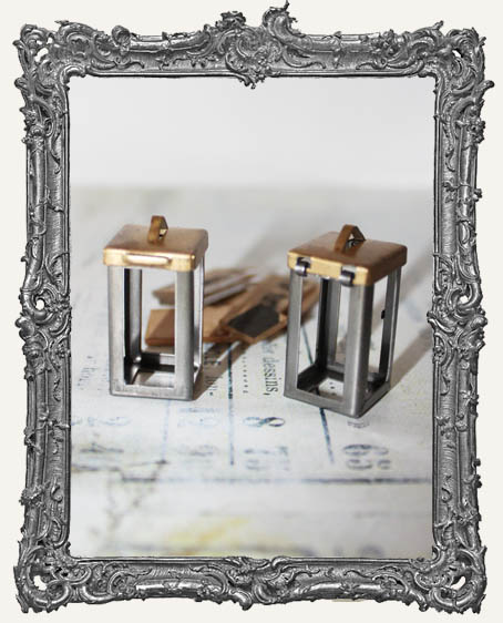 Coffee Break Design LARGE Brass BOX Flip Frame Acrylic Kit - SET OF TWO